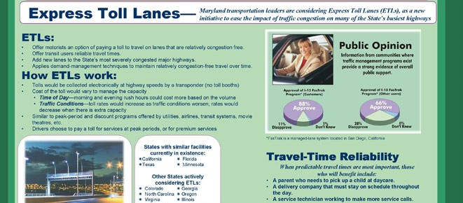 I-95 Express Toll Lanes (ETL) Public Outreach Support